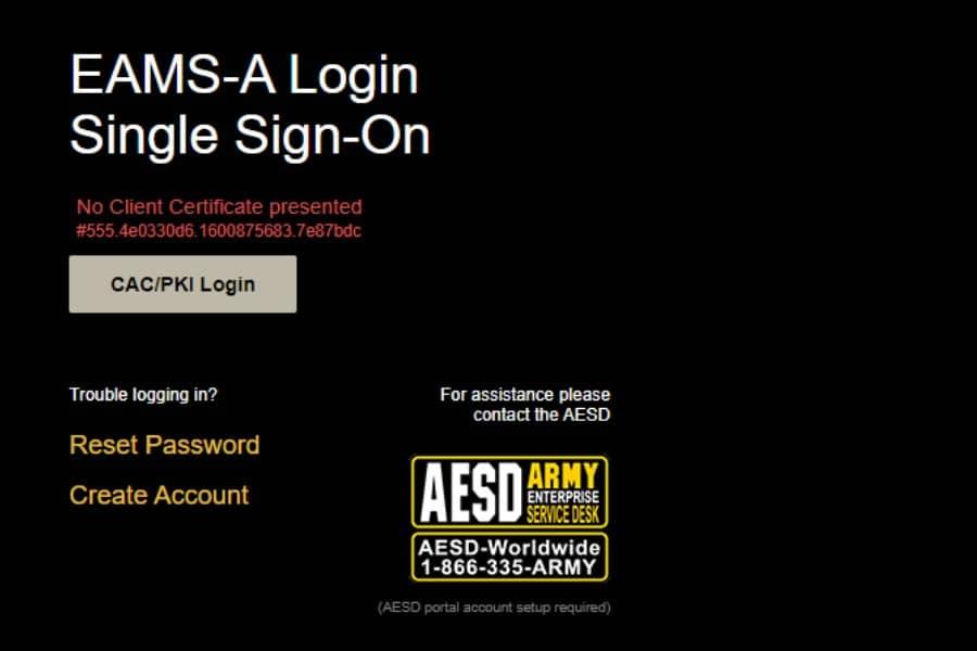 No Client Certificate Presented Error on AKO Login